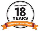 Celebrating 18 Years shredding in Scotland!
