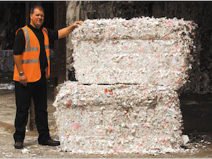 Non-confidential bales shredded paper