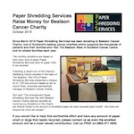 Donations to Beatson Cancer Charity